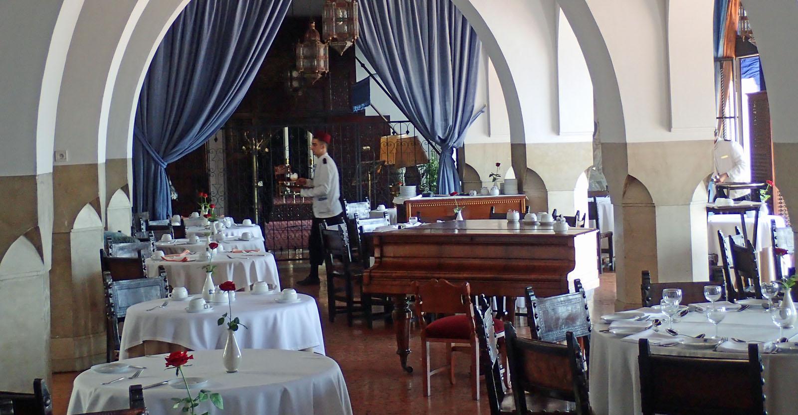 Restaurant «El Erz» im Hotel El Minzah in Tanger- das Original von Rick's Café Americaine