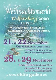 Weihnachtsmarkt Welfensberg 2020