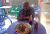 Balai eats Injera